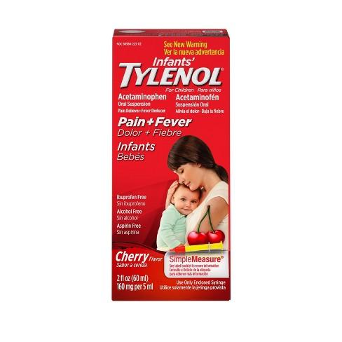 Infants' Tylenol Pain Reliever+Fever Reducer Liquid - Acetaminophen - Grape - image 1 of 4