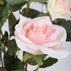 Vickerman Artificial Rose Plant in Pot. - image 2 of 4
