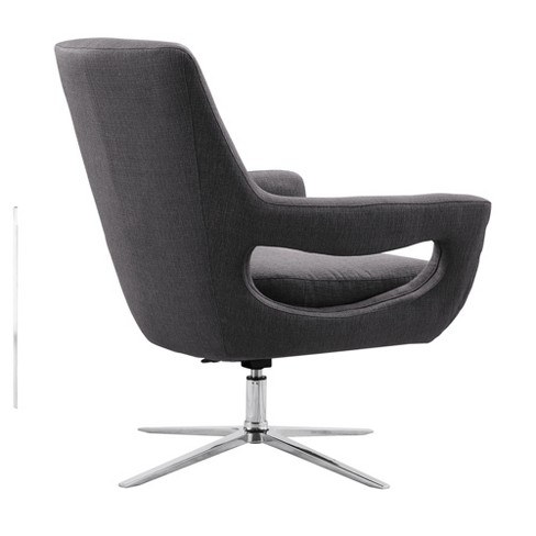 Armen Living Quinn Contemporary Adjustable Swivel Accent Chair Gray - image 1 of 3