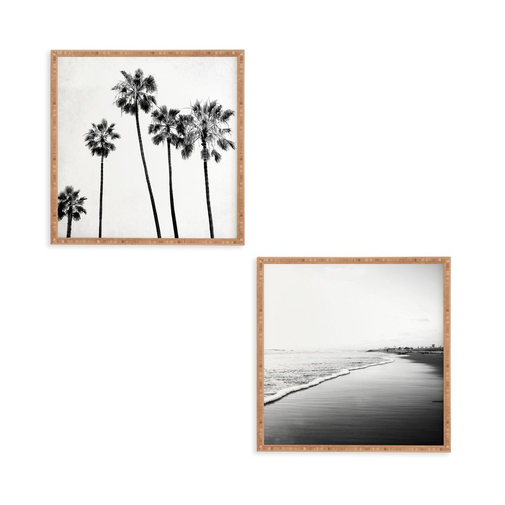 """Image of """"12""""""""x12"""""""" 2pc Five Palms Framed Decorative Wall Art Set White - Deny Designs"""""""
