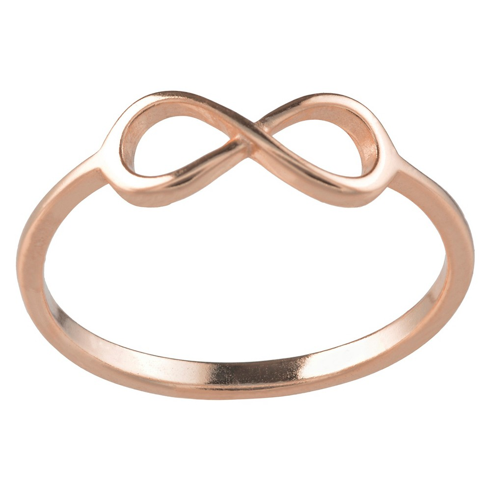 Women's Journee Collection Infinity Ring in Sterling Silver - Rose Gold, 8