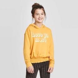 Girls' Smocked Bottom Hoodie - art class™ Yellow