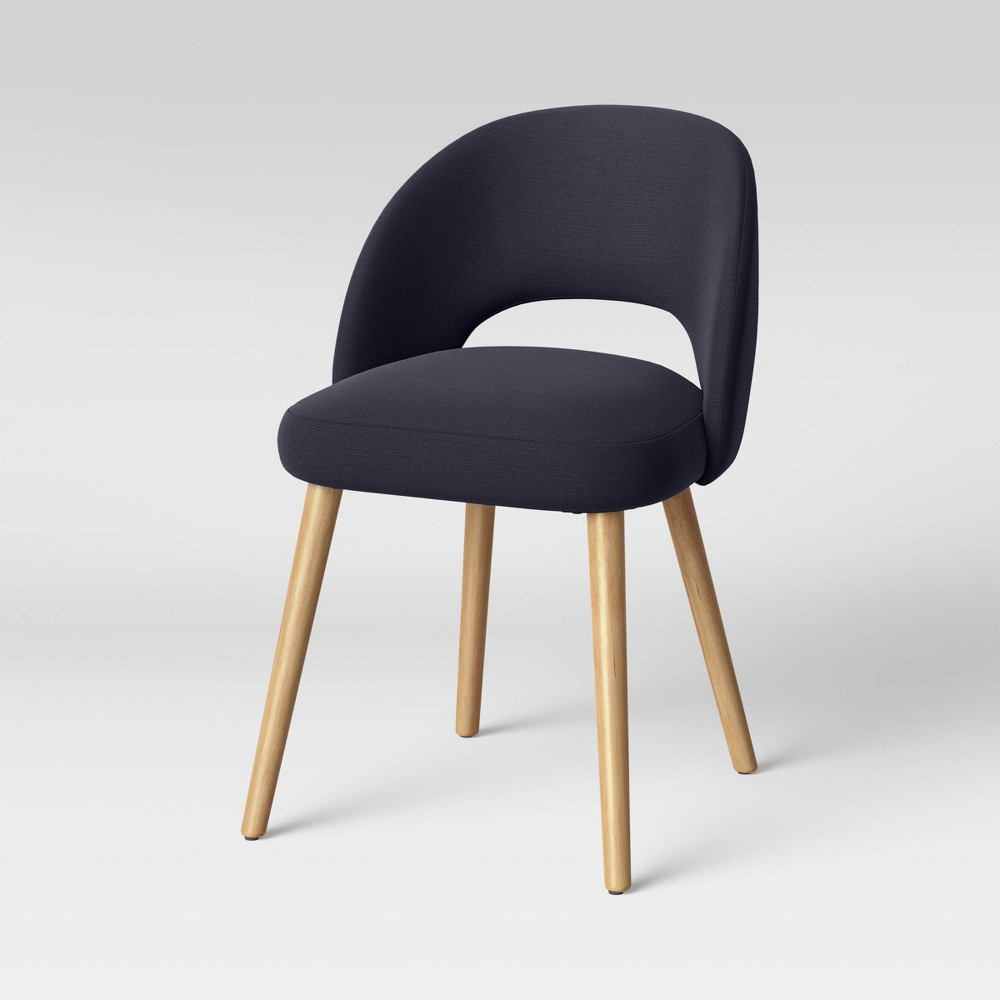 Galles Mid Century Upholstered Dining Chair Navy Project 62 8482