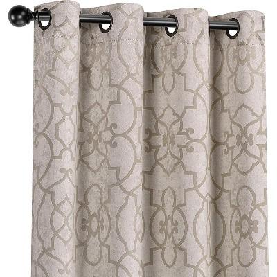 Kate Aurora Living 2 Pack Reversible Geometric Room Darkening Grommet Curtains