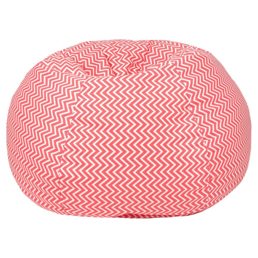 Gold Medal Kids Cosmo ZigZag Print Bean Bag - Coral (Pink)