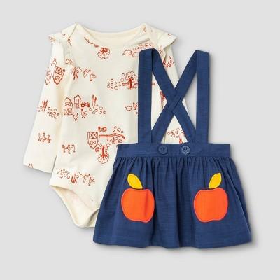 Baby Girls' Apple Skirtall Top & Bottom Set - Cat & Jack™ 0-3M