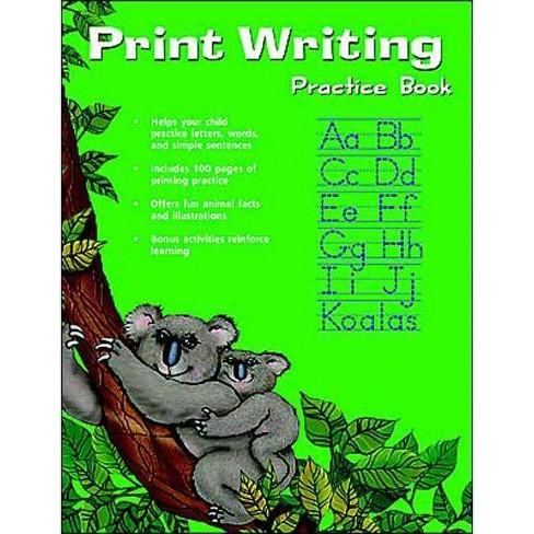 Print Writing Practice Book (Flash Kids Harcourt Family Learning) - (Paperback) - image 1 of 1