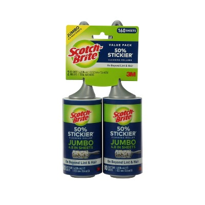 Scotch- Brite Extra Large Lint Rollers - 2pk, 80 Sheets
