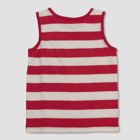 67409b1f1a5426 Junk Food Toddler Boys  Disney Mickey Mouse Striped Tank Top - Red White 3T    Target