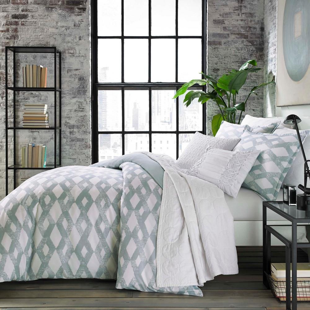 Blue Addison Comforter Set (Twin) - City Scene