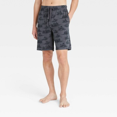 "Men's 9"" Regular Fit Knit Pajama Shorts - Goodfellow & Co™ Charcoal Gray"