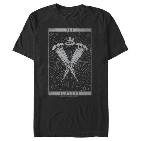 Men's Buffy the Vampire Slayer Slayer Wooden Stake Tarot Card T-Shirt - image 1 of 3