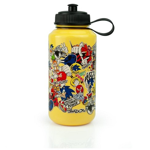 Just Funky Sonic The Hedgehog Sticker Bomb Large Plastic Water Bottle Holds 32 Ounces Target