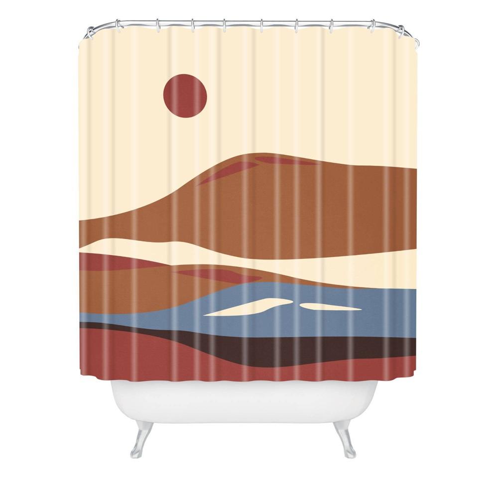 Viviana Gonzalez Western Desert Vibes Ii Shower Curtain Brown Deny Designs