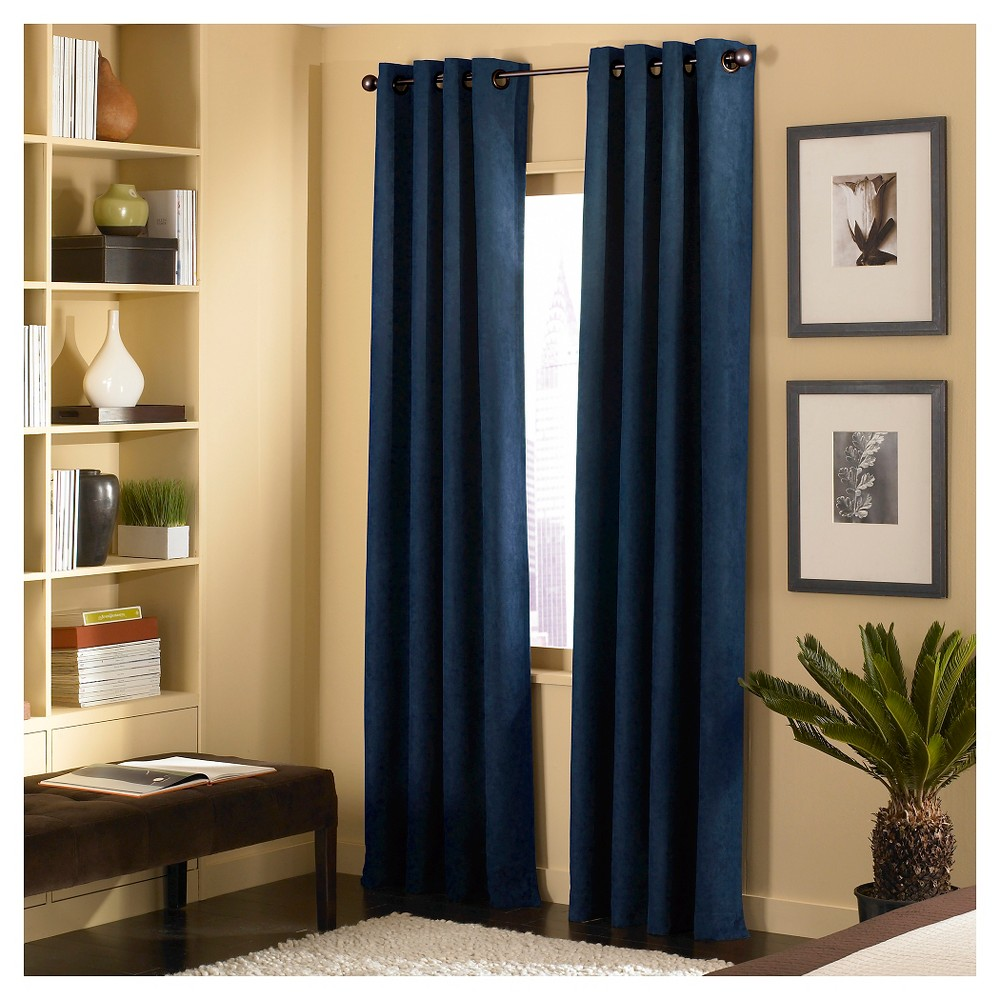 Image of Curtainworks Cameron Curtain Panel - Navy (Blue) (108)