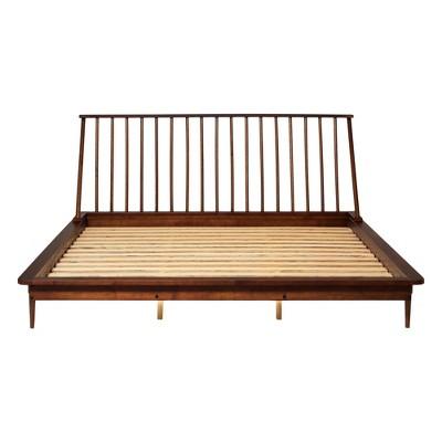 King Aurora Boho Solid Wood Spindle Bed - Saracina Home