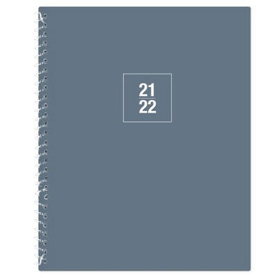 """2021-22 Academic Weekly/Monthly Planner 8"""" x 10"""" Solid Blue - Blue Sky"""