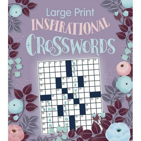 Large Print Inspirational Crossword - (Paperback) - image 1 of 1