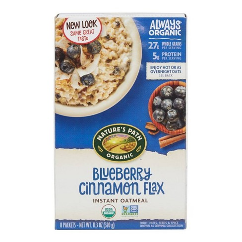 Nature's Path Organic Blueberry Cinnamon Flax Instant Oatmeal - 8ct - image 1 of 4