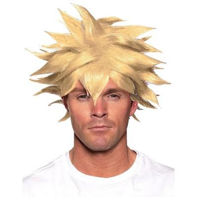 Underwraps Spiky One Size Adult Costume Crunchyroll Anime Wig | Blonde