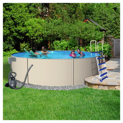 "Blue Wave Havana Complete 18' Round 52"" Deep Pool Package - Gray - image 1 of 5"