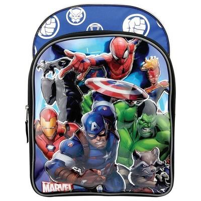 "Marvel Universe 6D Molded 16"" Kids' Deluxe Backpack - Blue"