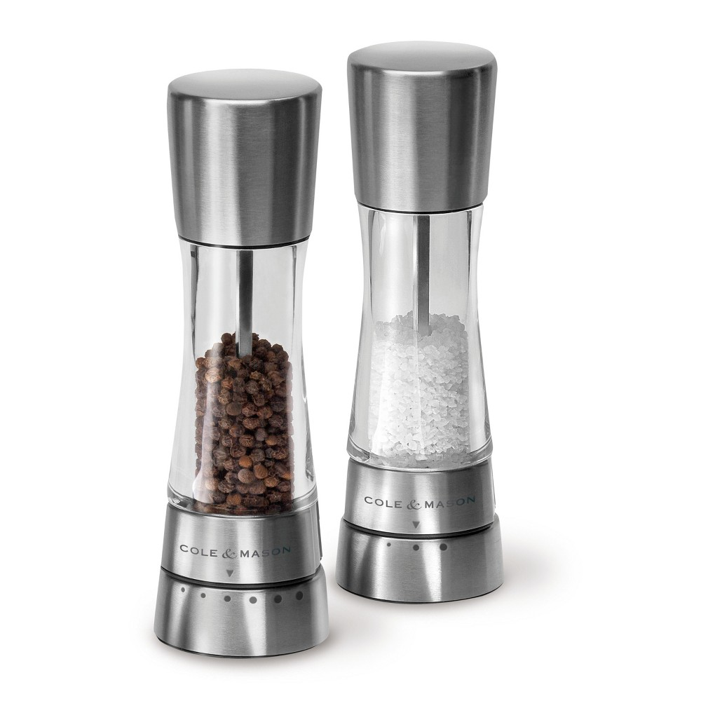 Image of Cole & Mason Derwent Stainless Steel Salt & Pepper Mill Set, Silver