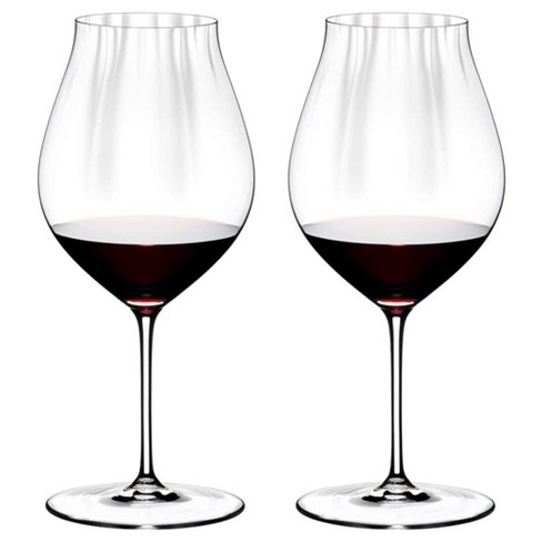 Riedel 29 Ounce Performance Pinot Noir Clear Crystal Wine Glass Set for Light Bodied Wines with Microfiber Polishing Cloth, (2 Pack) - image 1 of 4