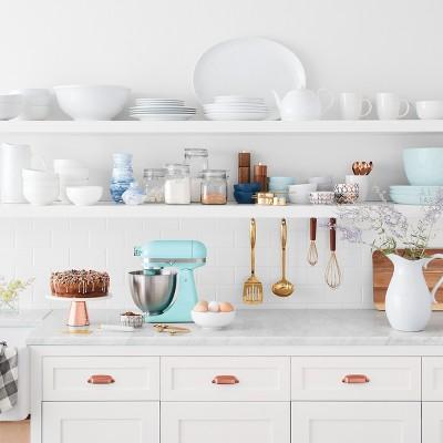 White Gold Kitchen Collection Featuring Kitchenaid Artisan