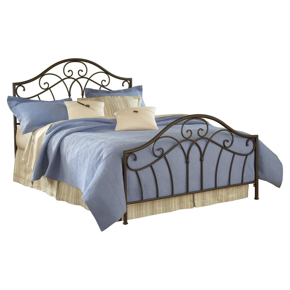 Josephine Bed with Rails - Brown (Full) - Hillsdale Furniture, Grey