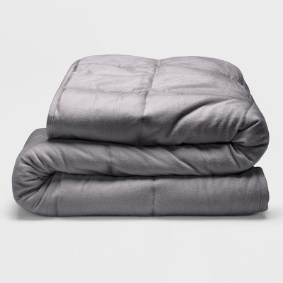 Sealy 48  x 72  Microplush 18lb Weighted Blanket Gray