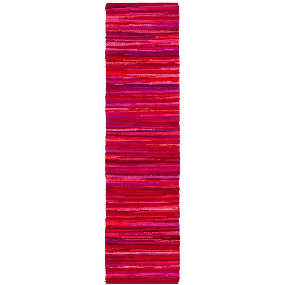 2'3X12' Woven Spacedye Design Runner Rug Red - Safavieh, Red/Multi-Colored