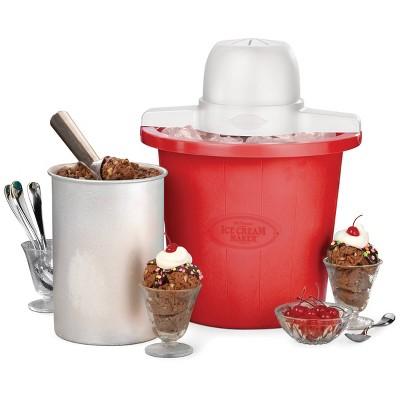 Nostalgia 4qt Electric Ice Cream Maker - ICMP4RD