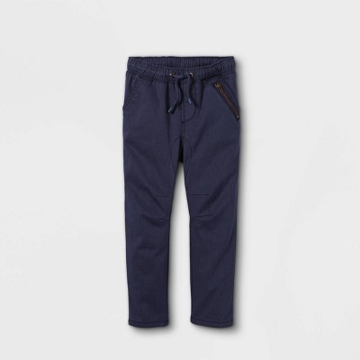 Toddler Boys' Woven Jogger Chino Pull-On Pants - Cat & Jack™ Navy