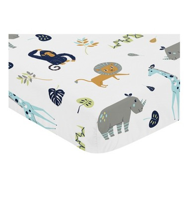Sweet Jojo Designs Mod Jungle Fitted Crib Sheet