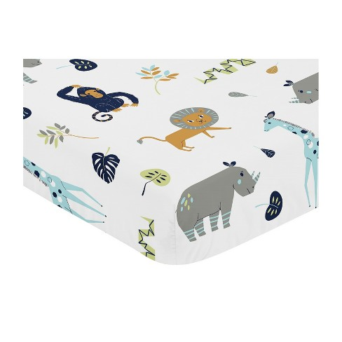 Sweet Jojo Designs Mod Jungle Fitted Crib Sheet Target