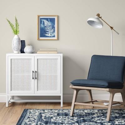 Warwick 2 Door Wood U0026 Rattan Accent Cabinet   Threshold™