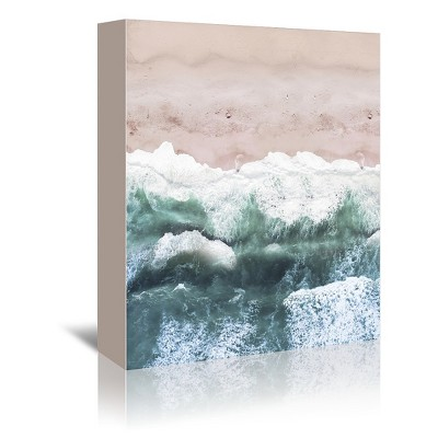 Americanflat Pink Beach Decor by Tanya Shumkina Wrapped Canvas
