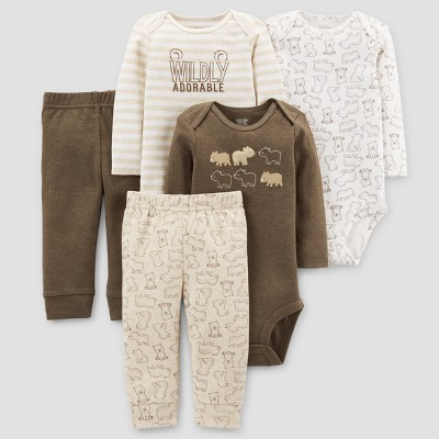 Baby Boys' 5pc Bear Bundle - Just One You™ Made by Carter's® Brown 3M