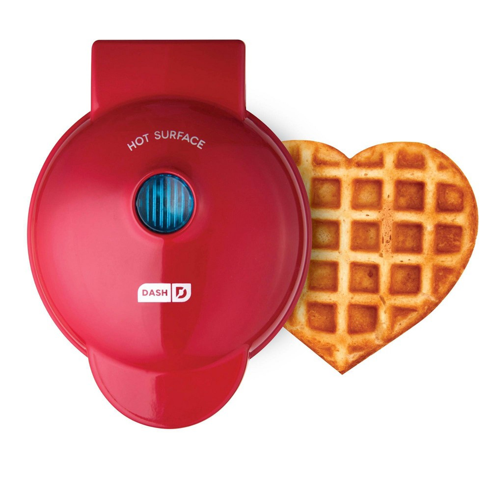 Image of Dash Heart Shaped Waffle Maker Red