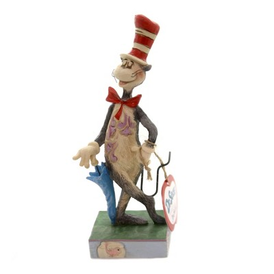 "Jim Shore 6.5"" Cat In The Hat W/ Umbrella Dr Suess Story Childrens Book  -  Decorative Figurines"