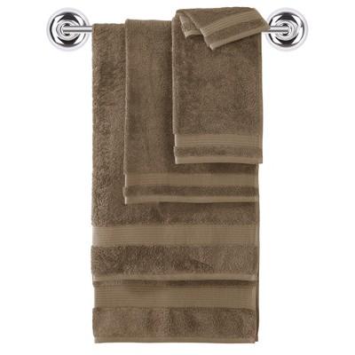 6pc Amadeus Turkish Bath Towel Set Roasted Coffee - Makroteks