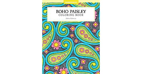 Boho Paisley Adult Coloring Book. - image 1 of 1