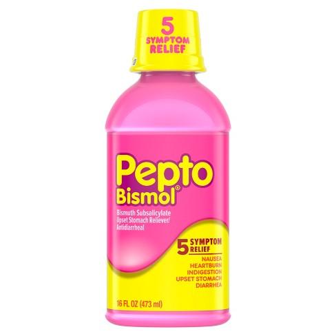 Pepto Bismol 5 Symptom Digestive Relief Original Liquid 16 Fl Oz