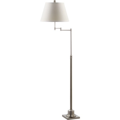 Parker Swivel Floor Lamp - Nickel - Safavieh (Lamp Includes Energy Efficient Light Bulb) - image 1 of 4