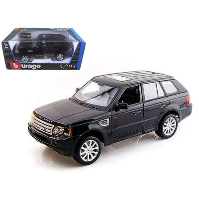 Range Rover Sport Black 1/18 Diecast Model Car by Bburago