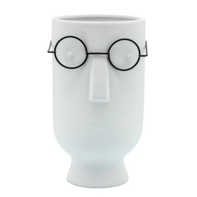 Face with Glasses Planter - Sagebrook Home