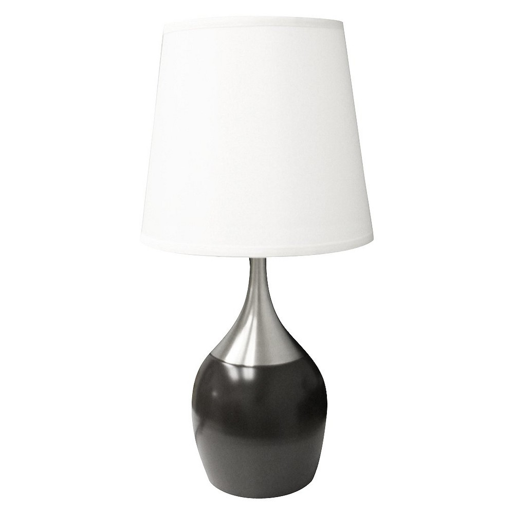 24 5 34 Modern Metal Table Lamp With Touch Sensor Brown White Ore International
