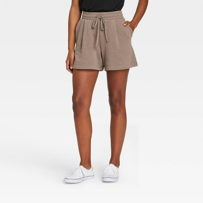 Women's High-Rise Tie Waist Knit Lounge Shorts - A New Day™