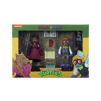 """Teenage Mutant Ninja Turtles (Cartoon) - 7"""" Scale Action Figure - Splinter and Baxter 2pk"""